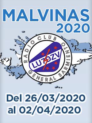 """(LU7DZV) Diploma """"MALVINAS 2020"""""""