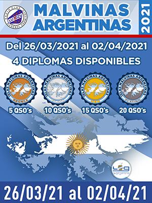 (LU7DZV) Malvinas Argentinas 2021
